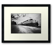 Fast Speeding Train Framed Print