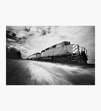 Fast Speeding Train Photographic Print