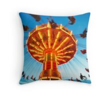 Flying Ride Throw Pillow
