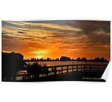 Golden Christmas Sunset Poster