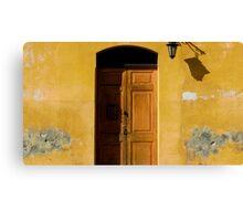 Antigua Lemon Door Canvas Print