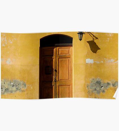 Antigua Lemon Door Poster