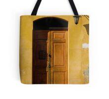 Antigua Lemon Door Tote Bag
