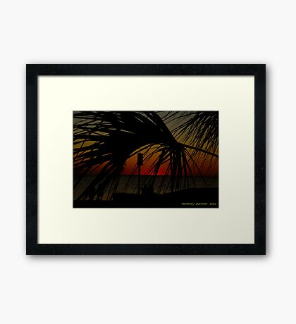 Palm in After Glow Framed Print