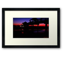 Pier 60 In After Glow 2 Framed Print