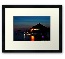 Pier 60 In After Glow Framed Print