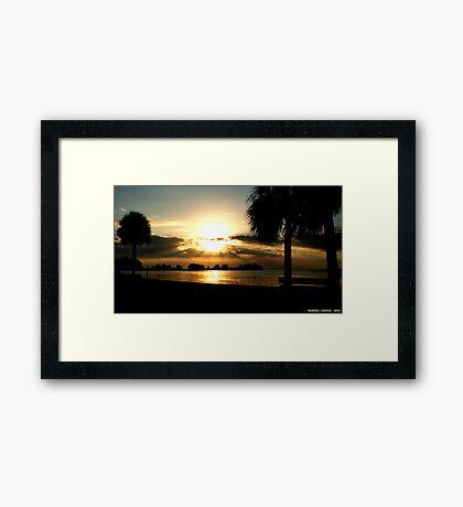 Prismatic Sunset Framed Print