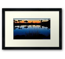 Rich Reflections Framed Print