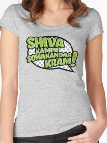 Shiva Blast (Green Variant) Women's Fitted Scoop T-Shirt