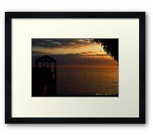 Sunshine Skyway At Sunset Framed Print