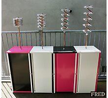 Copper and Chrome Slinki Tiki Torch - FredPereiraStudios.com_Page_02 Photographic Print