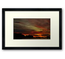 Swirls Of After Glow Framed Print
