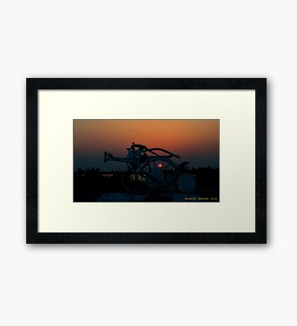 Through the Plow Framed Print