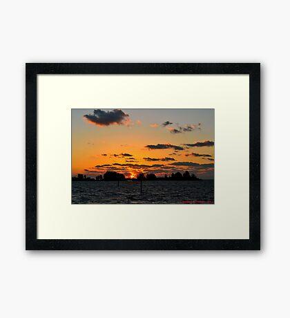 Warm Sunset Framed Print