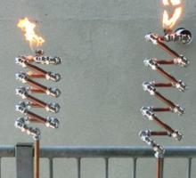 Copper and Chrome Slinki Tiki Torch - FredPereiraStudios.com_Page_03 Sticker