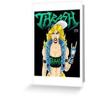 Old-School Thrash Metal Chick Greeting Card