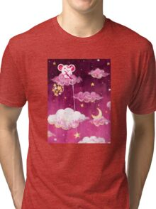 Catching Stars - Rondy the Elephant collecting bright stars Tri-blend T-Shirt