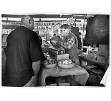 City - South Street Seaport - New Amsterdam Market - Apples & Mustard Poster