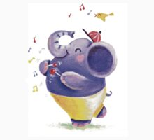 Drummer - Rondy the Elephant using his belly like a drum Kids Clothes