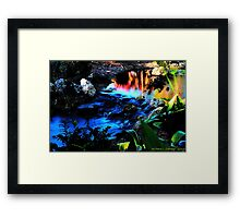 Miniature Waterfall Framed Print