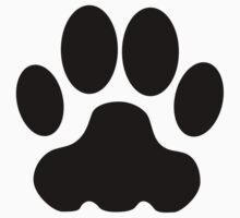Black Big Cat Paw Print T-Shirt