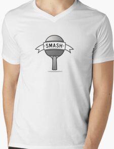 SMASH Ping Pong Mens V-Neck T-Shirt