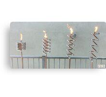 Copper and Chrome Slinki Tiki Torch - FredPereiraStudios.com_Page_05 Canvas Print