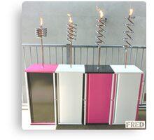 Copper and Chrome Slinki Tiki Torch - FredPereiraStudios.com_Page_06 Canvas Print