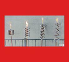 Copper and Chrome Slinki Tiki Torch - FredPereiraStudios.com_Page_07 Kids Tee