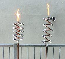 Copper and Chrome Slinki Tiki Torch - FredPereiraStudios.com_Page_07 by Fred Pereira