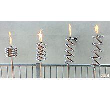 Copper and Chrome Slinki Tiki Torch - FredPereiraStudios.com_Page_07 Photographic Print