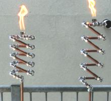 Copper and Chrome Slinki Tiki Torch - FredPereiraStudios.com_Page_09 Sticker