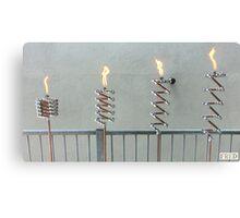 Copper and Chrome Slinki Tiki Torch - FredPereiraStudios.com_Page_09 Canvas Print