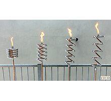 Copper and Chrome Slinki Tiki Torch - FredPereiraStudios.com_Page_09 Photographic Print