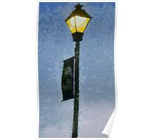 Lamppost With Banner Poster