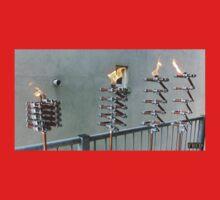 Copper and Chrome Slinki Tiki Torch - FredPereiraStudios.com_Page_11 One Piece - Long Sleeve