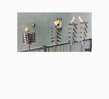 Copper and Chrome Slinki Tiki Torch - FredPereiraStudios.com_Page_11 Men's Baseball ¾ T-Shirt
