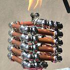 Copper and Chrome Slinki Tiki Torch - FredPereiraStudios.com_Page_12 by Fred Pereira