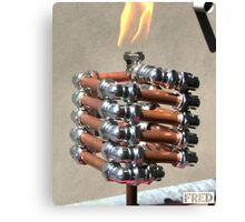 Copper and Chrome Slinki Tiki Torch - FredPereiraStudios.com_Page_12 Canvas Print