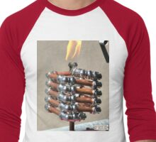 Copper and Chrome Slinki Tiki Torch - FredPereiraStudios.com_Page_12 Men's Baseball ¾ T-Shirt