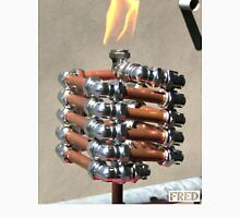 Copper and Chrome Slinki Tiki Torch - FredPereiraStudios.com_Page_12 Men's Baseball ¾ T-Shirt