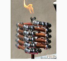Copper and Chrome Slinki Tiki Torch - FredPereiraStudios.com_Page_13 Men's Baseball ¾ T-Shirt
