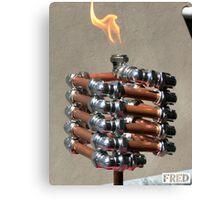Copper and Chrome Slinki Tiki Torch - FredPereiraStudios.com_Page_13 Canvas Print