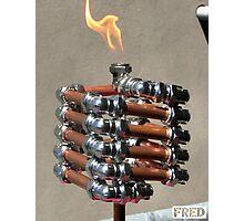 Copper and Chrome Slinki Tiki Torch - FredPereiraStudios.com_Page_13 Photographic Print