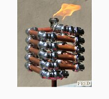Copper and Chrome Slinki Tiki Torch - FredPereiraStudios.com_Page_14 Men's Baseball ¾ T-Shirt