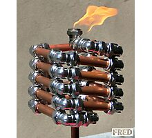 Copper and Chrome Slinki Tiki Torch - FredPereiraStudios.com_Page_14 Photographic Print