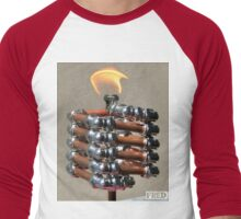 Copper and Chrome Slinki Tiki Torch - FredPereiraStudios.com_Page_16 Men's Baseball ¾ T-Shirt