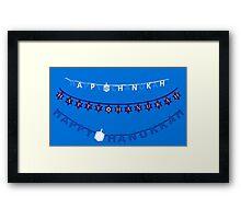 Hanukkah Sign Ugly Sweater Framed Print