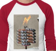 Copper and Chrome Slinki Tiki Torch - FredPereiraStudios.com_Page_17 Men's Baseball ¾ T-Shirt