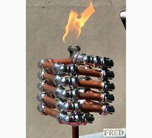 Copper and Chrome Slinki Tiki Torch - FredPereiraStudios.com_Page_17 Men's Baseball ¾ T-Shirt